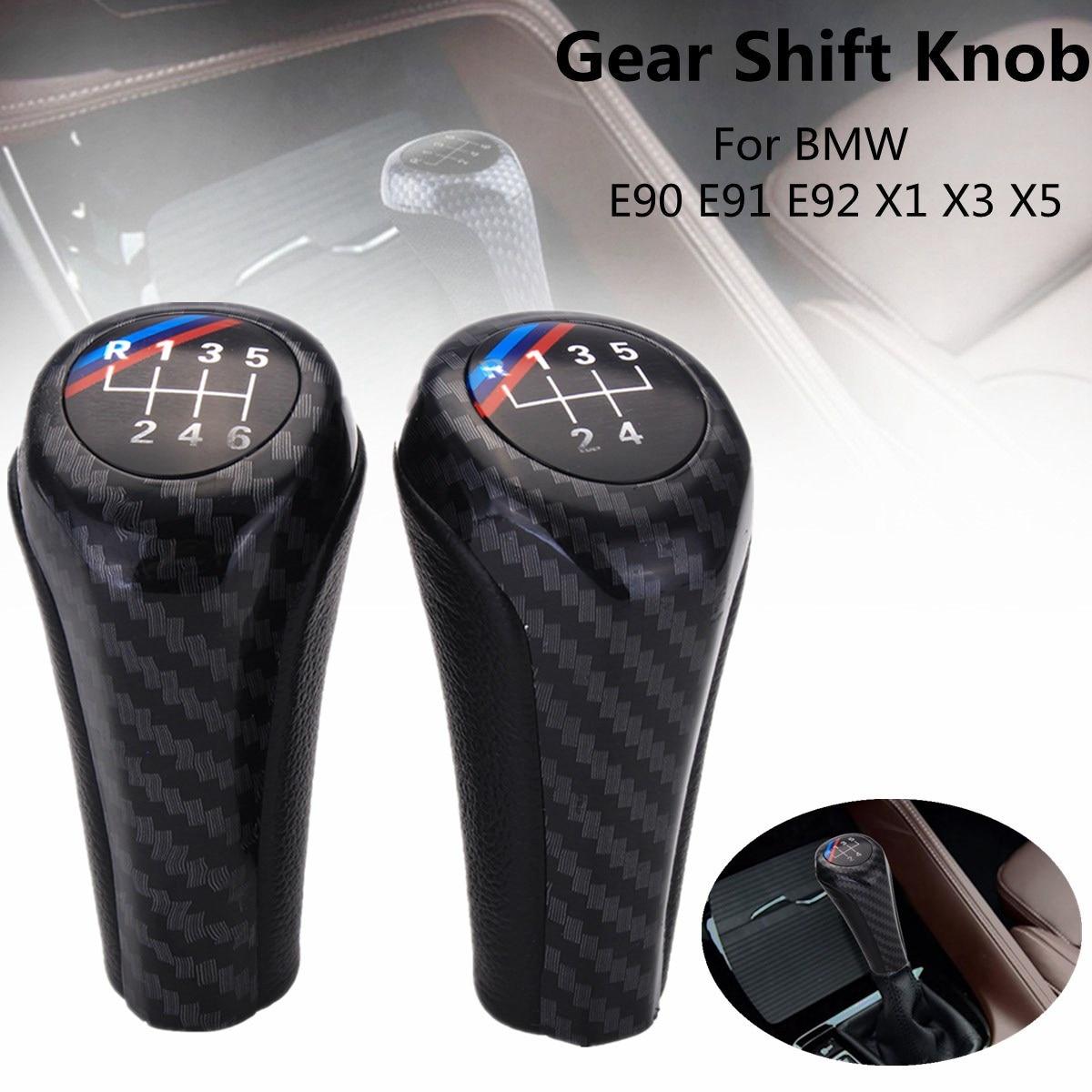 5/6 vitesse De Voiture Manuel Pommeau Pour BMW E90 E91 E92 X1 X3 En Fiber de Carbone Couleur