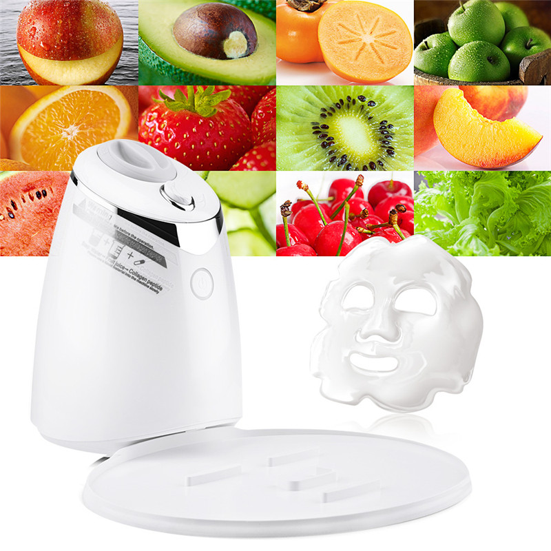 Face Mask Machine Automatic Fruit Facial Mask Maker DIY Natural Vegetable Mask With Collagen English Voice Beauty Machine 1 set professional face care diy homemade fruit vegetable crystal collagen powder facial mask maker machine skin whitening