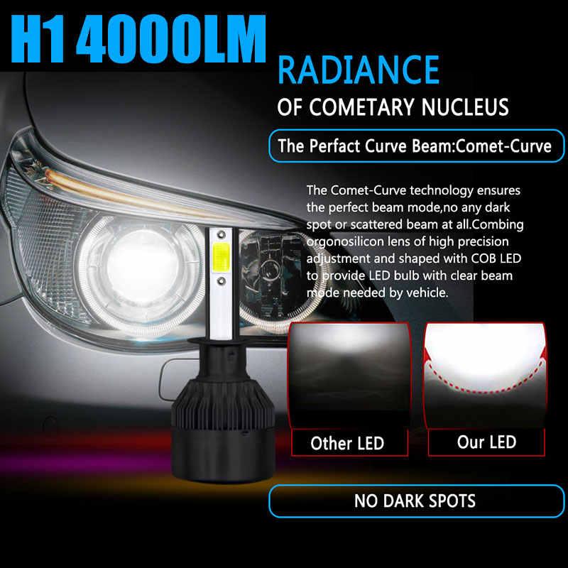 2x H1 H11 автомобиля светодиодная лампа для авто фары H4 H7 H8 HB4 9006 HB3 9005 H10 H9 C6 бескорпусный чип СВЕТОДИОД Canbus лампы Автомобильные фары 6000 К 4000 мл 36W