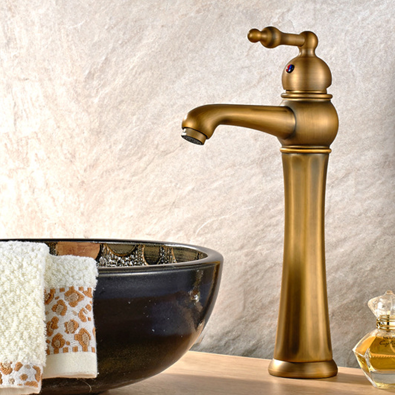Elegant Vessel Sink Faucet, One Handle Lever, Hot / Cold Water, Solid Brass, Multi Colors, ORB , 2027 - 2