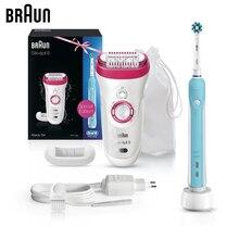 Эпилятор Braun Silk-epil 9 + зубная щётка Oral B PRO 500 9521