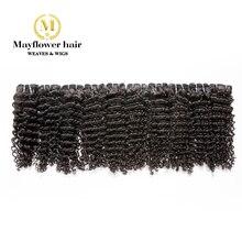 Mayflower Виргинские малазийские волосы, глубокая волна, натуральный цвет, полная кутикула, Можно отбеливать 10 пучков от 12 до 26 дюймов