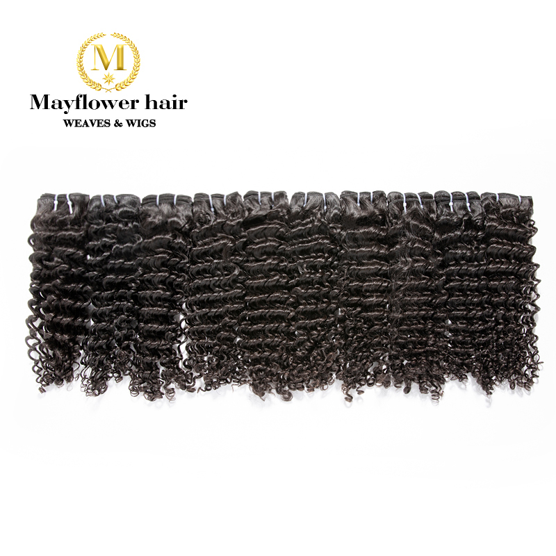 Mayflower 100% Virgin Malaysian Hair Deep Wave Natural Color Full Cuticle Intact Can Be Bleach 10 Bundle From 12-26 Inch