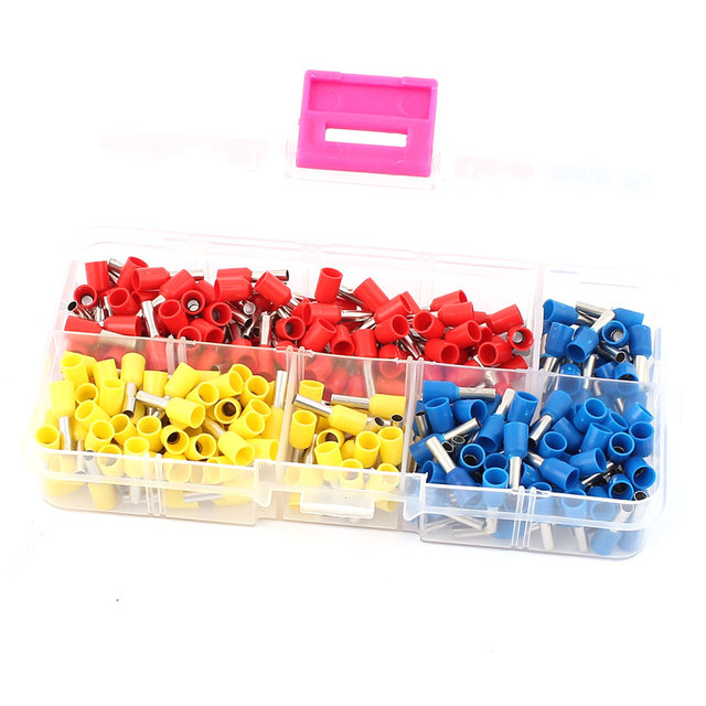UXCELL 270Pcs Awg14 Insulated Ferrule Pin Cord End Terminal Wire ...