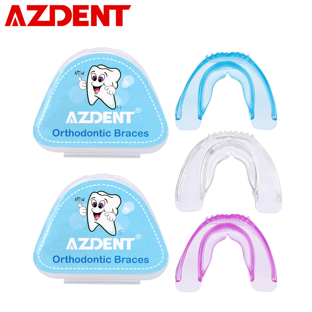 AZDENT New Silicone Soft Hard Tooth Tray Dental Orthodontic Braces Appliance Teeth Alignment Trainer Teeth Retainer Mouth Guard
