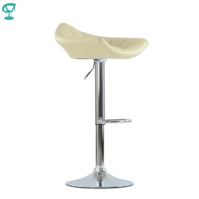 N44CrPuBeige Barneo N-44 PU Leather Kitchen Breakfast Bar Stool Swivel Bar Chair Beige Color Free Shipping In Russia