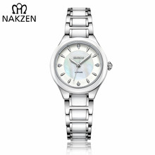 NAKZEN Women Steel Between Ceramics Quartz Watches Female Luxury Diamond Wristwatches Lady Fashion Watch Clock relogio feminino