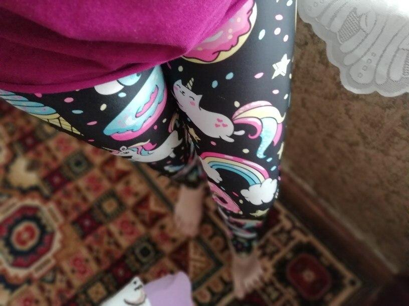 Colorful Digital Print Unicorn Party Series Leggings photo review