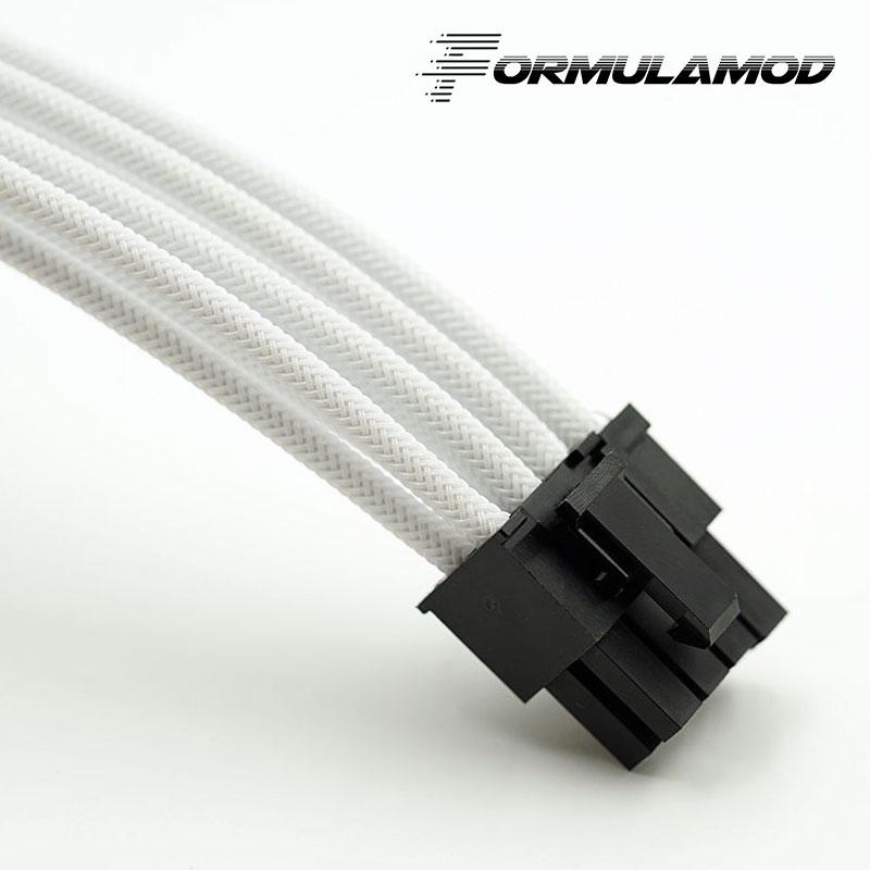 FormulaMod Fm-PCI8P-A, PCI-E 8Pin GPU удлинитель питания, материнская плата 18AWG 8Pin многоцветные соответствующие кабели расширения - Цвет лезвия: White