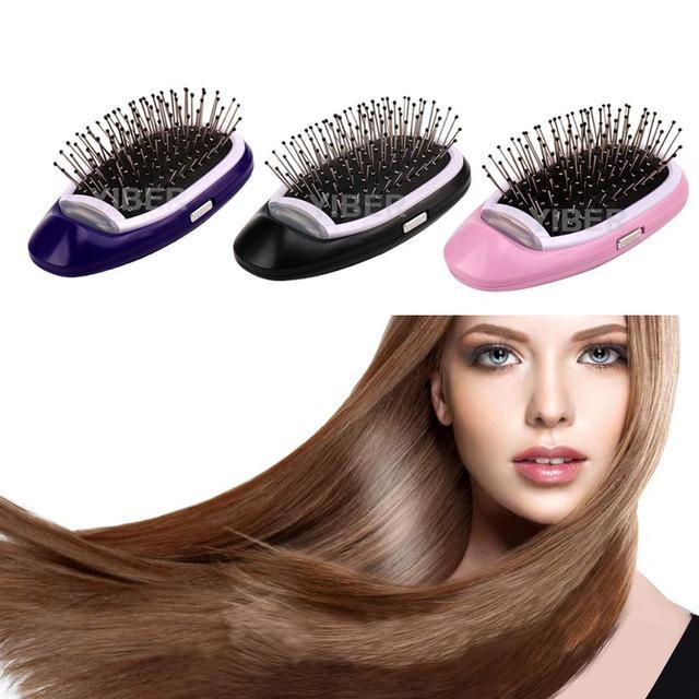 Cepillo de pelo iónico cepillo de pelo eléctrico portátil Anti estático mágico de iones negativos peine de masaje no más frizz estilizador de pelo dropship