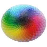 1000 Pcs/ensemble Vente Chaude Coloré Arc-En-Rond Géométrique Photopuzzle Adulte Enfants BRICOLAGE Jouet Éducatif Jigsaw Puzzle Papier