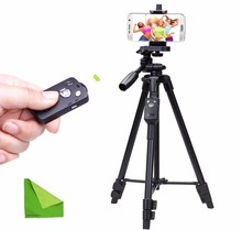 Yunteng 5208 Bluetooth Tripod for iPhone Cell Telephone Smartphone Samsung Galaxy Telephone iPad Pill PC with EACHSHOT Cleansing Fabric