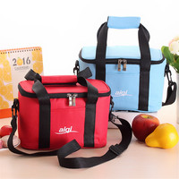 Large Capacity Oxford Cloth Insulation Bag Baby Diaper Milk Bottles Food Tote Bag Cooler Insulated Zippered
