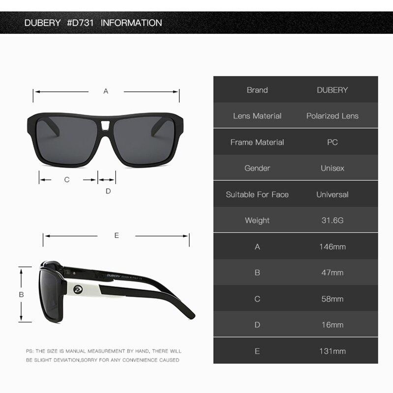 71b6038665 DUBERY 2018 hombres polarizado dragón gafas de sol de las mujeres de los  hombres de pesca deportiva de lujo diseñador de marca