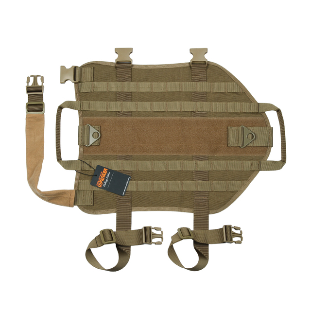SPANKER Molle Dog Vest with Handle and three pouches