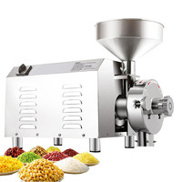 2200W stainless steel commercial power corn grain mill grinder small grain grinder/crusher/grinding machine price