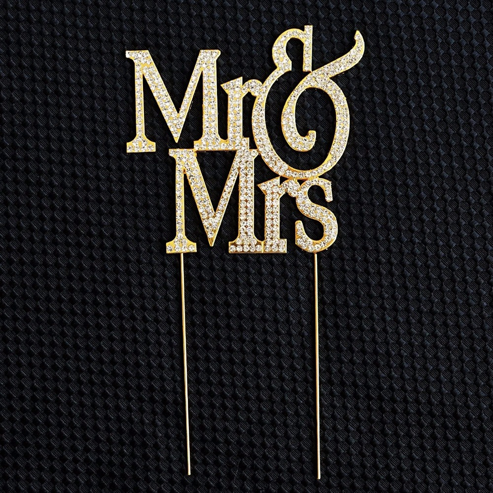 Nidalee Wedding Engagement Jewelry Mr Crystal Rhinestone Cake Toppers For Funny Wedding party Decoration Hapy Birthday Candle in Cake Decorating Supplies from Home Garden