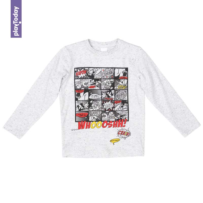 T-Shirts PLAYTODAY for boys 571002 Children clothes kids clothes kids outfits letter pattern t shirts in white