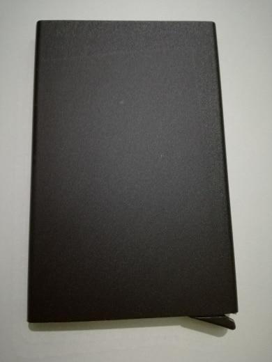 PURDORED 1 pc Card Holder Rfid Aluminium Card Case Unisex Business Card Box Credit Card Holder kartvizitlik Dropshipping photo review