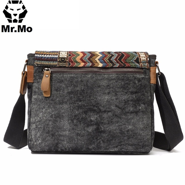 Vintage Ethnic Canvas Messenger Bag Women Chinese Style Shoulder Bag Female Casual Embroidery Crossbody Bag 3
