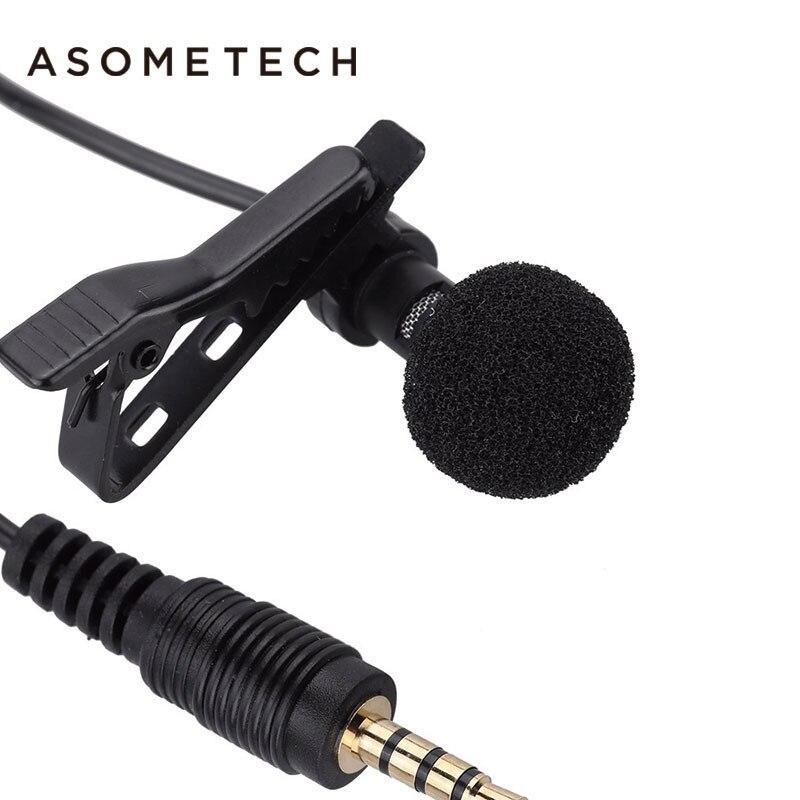 ASOMETECH Mini 3.5mm Mobile Phone Microphone Lavalier Tie Clip Microphones Microfono Mic Speaking Speech For Iphone Xiaomi IPad
