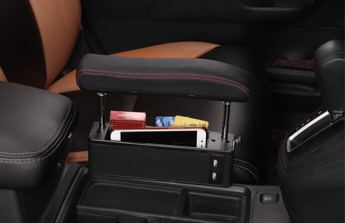 Universal Car Storage Box Adjustable Armrest Central Lift Elbow