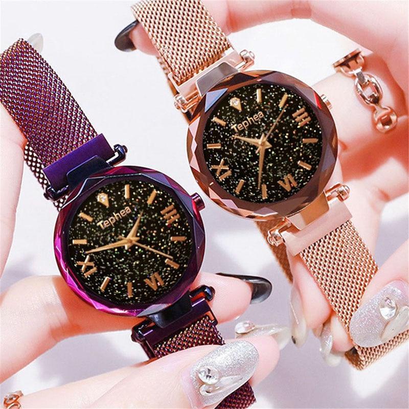 Luxury Women Watches Magnetic Starry Sky Female Clock Quartz Wristwatch Fashion Ladies Wrist Watch reloj mujer relogio feminino (6)