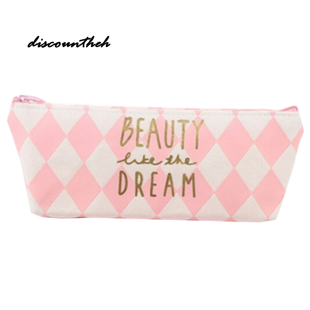Girl Gifts Fresh Style Cute Pink Canvas Purses Small Fresh Casual Coin Wallet Fashion Pattern Dollar Money Bag