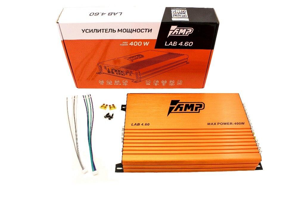 Amplificateur de voiture haut-parleurs Audio de basse amplificateurs Audio de voiture caisson de basses ampli LAB 4.60 DC 12 V 400 watts son Hi-Fi