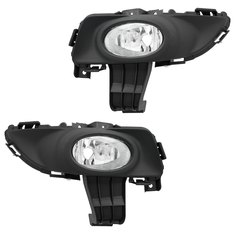 """5/"""" Inch Universal Motorcycle Fog /& Driving Lights Lamps w// Extra Free Bulbs B3"""