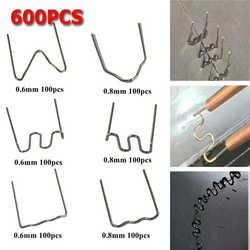 600 sztuk ze stali nierdzewnej standardowe Pre Cut 0.8mm/0.6mm gorące zszywki do zszywacz z tworzywa sztucznego zderzak samochodu naprawy Hine spawacz