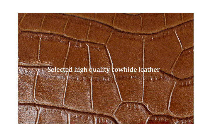 Nuleez crocodilo padrão real couro bolsa feminina