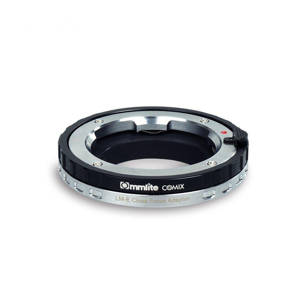 Commlite CoMix LM-E adaptateur de fixation d'objectif Macro à mise au point rapprochée pour objectif de la série Leica Zeiss Voigtlander M et pour appareil photo Sony à monture électronique