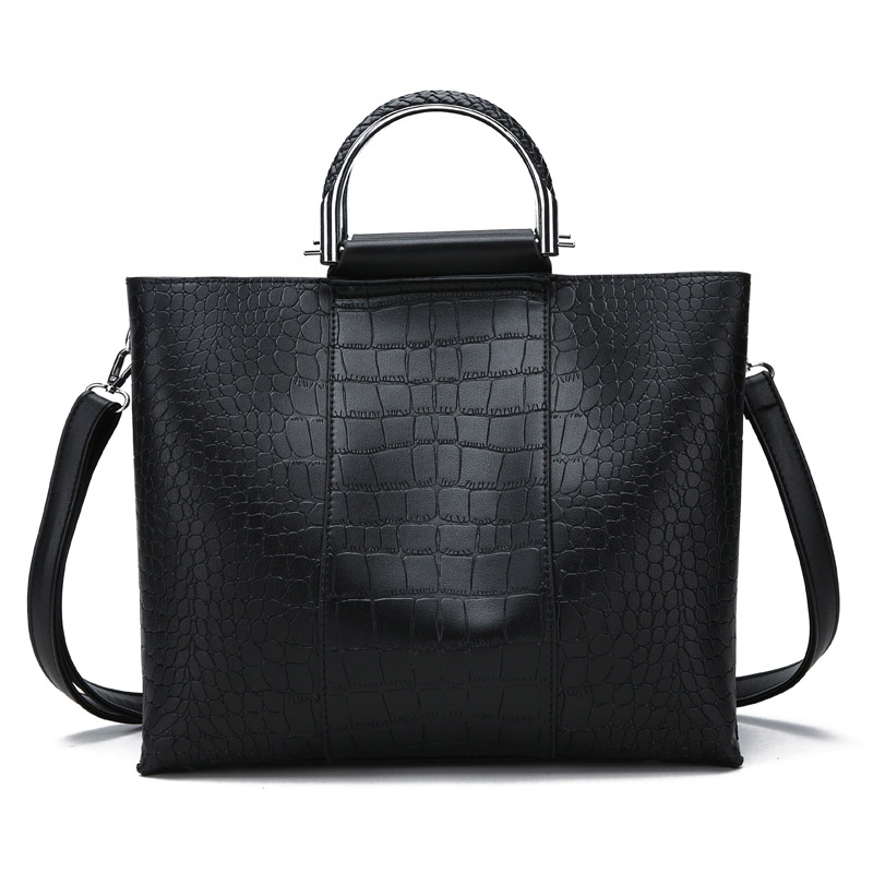 2018 New Arrival Cow Leather Frame Alligator Casual Totes Women Handbag Shoulder Bags For Women Messenger Bags Simple Design Bag free shipping new arrival 2016 finalize the design women messenger bag fashion patent leather women handbag hot shoulder bags