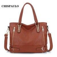 CHISPAULO Neue HEIßE Marke Handtaschen Bolsas Frauen Ledertaschen Quaste Frauen Messenger Bags Lackleder Handtaschen Kupplung Q5