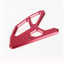 CNC Rear Brake Disc Guard Cover Protector Protection fit  CR125 CR250 CRF250 CRF450 CRFX450 2005-2017 Free Shipping front disc disk brake pump caliper for honda cr125 cr250 crf250 crf450 x r brake caliper with carbon fiber pads