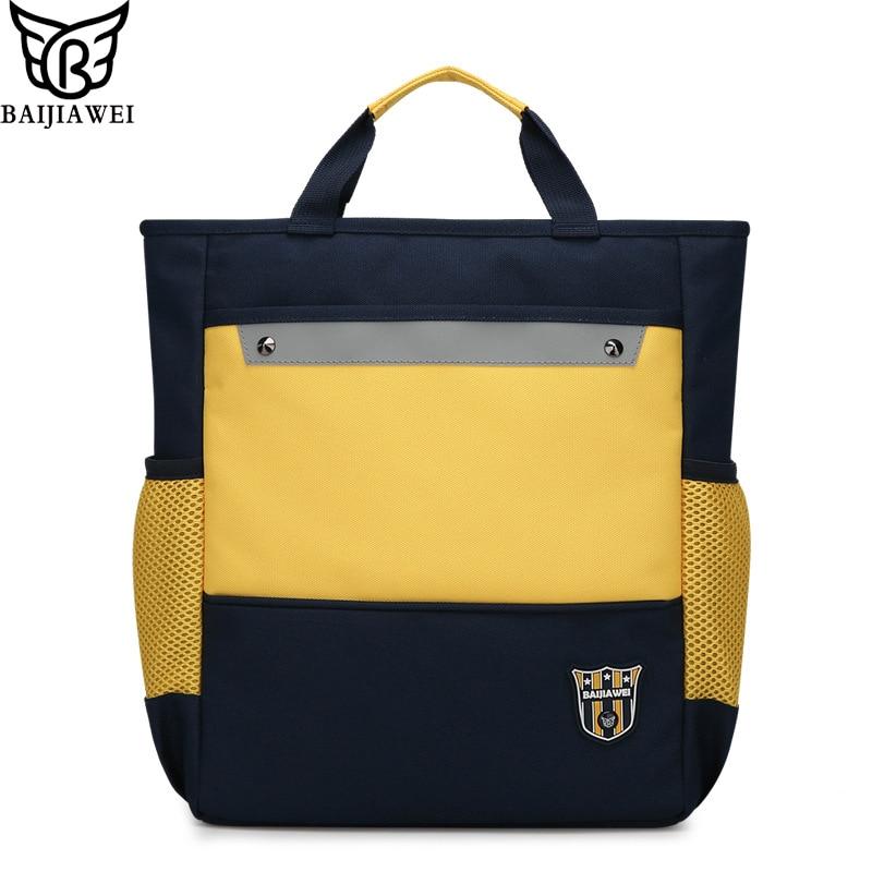 BAIJIAWEI Children Portable School Bag Children's Messenger Bag Student  Handbag Multi-purpose Kids Primary School 2-5 Grade Bags