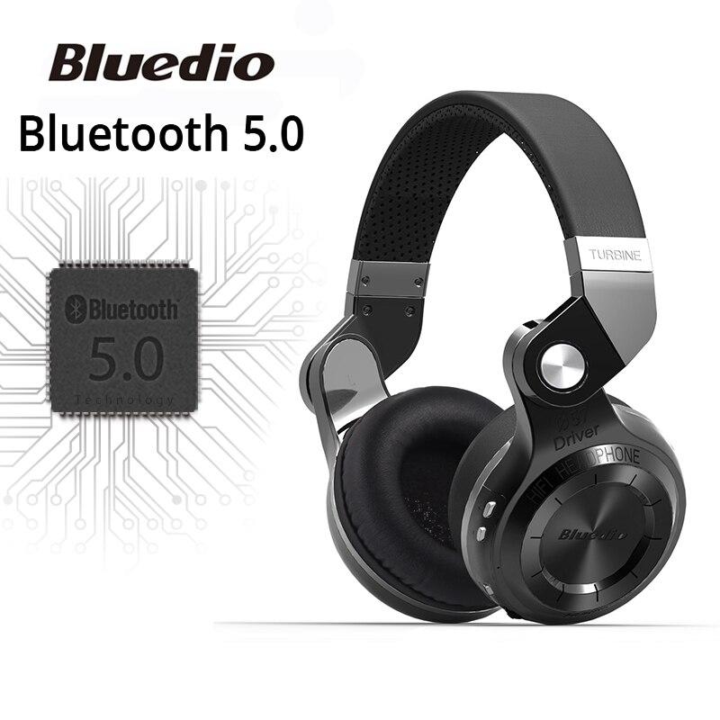 Originele Bluedio T2S bluetooth hoofdtelefoon met microfoon draadloze headset bluetooth voor Iphone Samsung Xiaomi hoofdtelefoon
