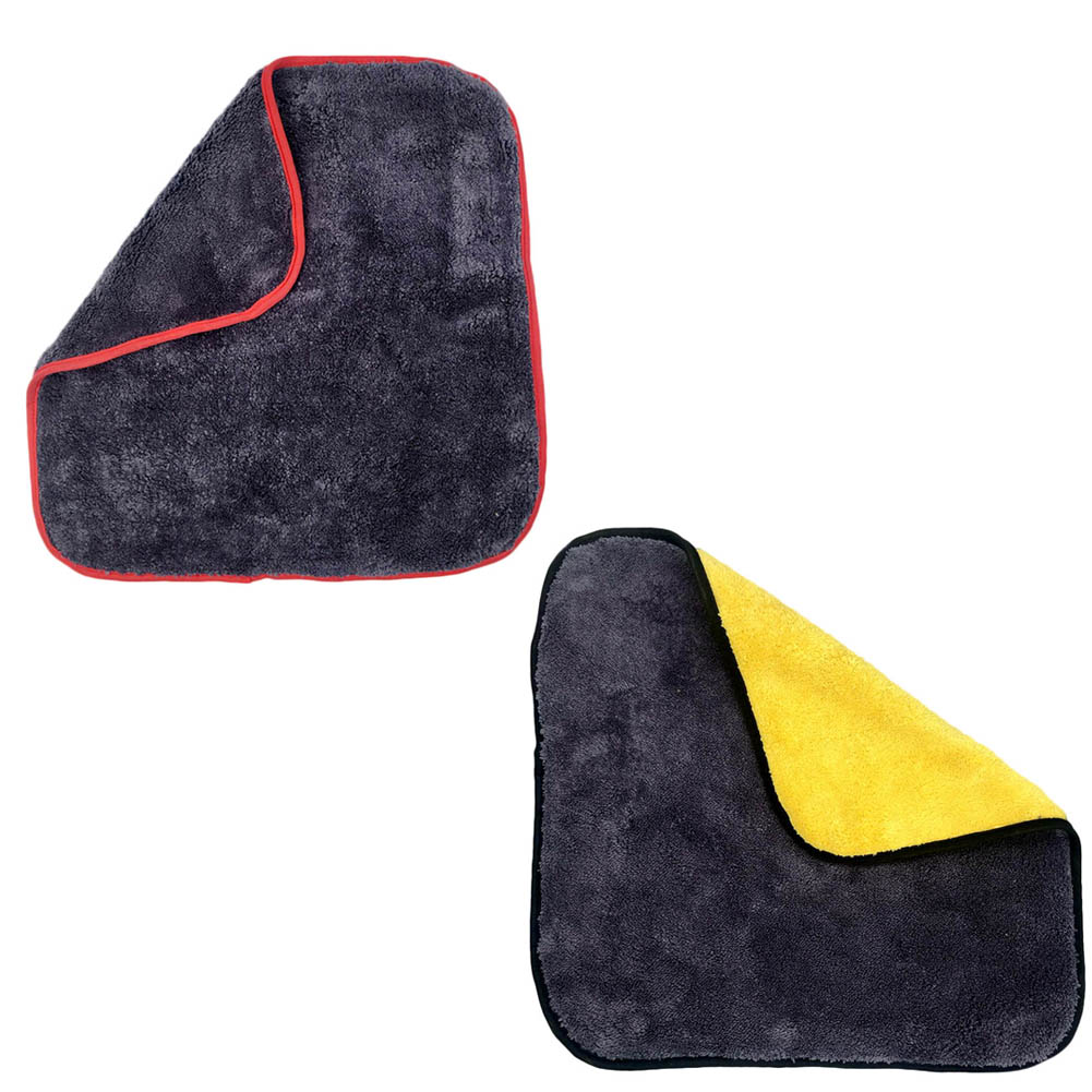 1PC Super Thick Plush Microfiber Car Cleaning Cloths Car Care Microfibre Wax Polishing Detailing Towels