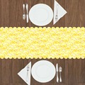 Еще кусочек желтых белых лимонов Овощи 3d принт шаблон современный Настольный бегун для кухни столовая скатерть