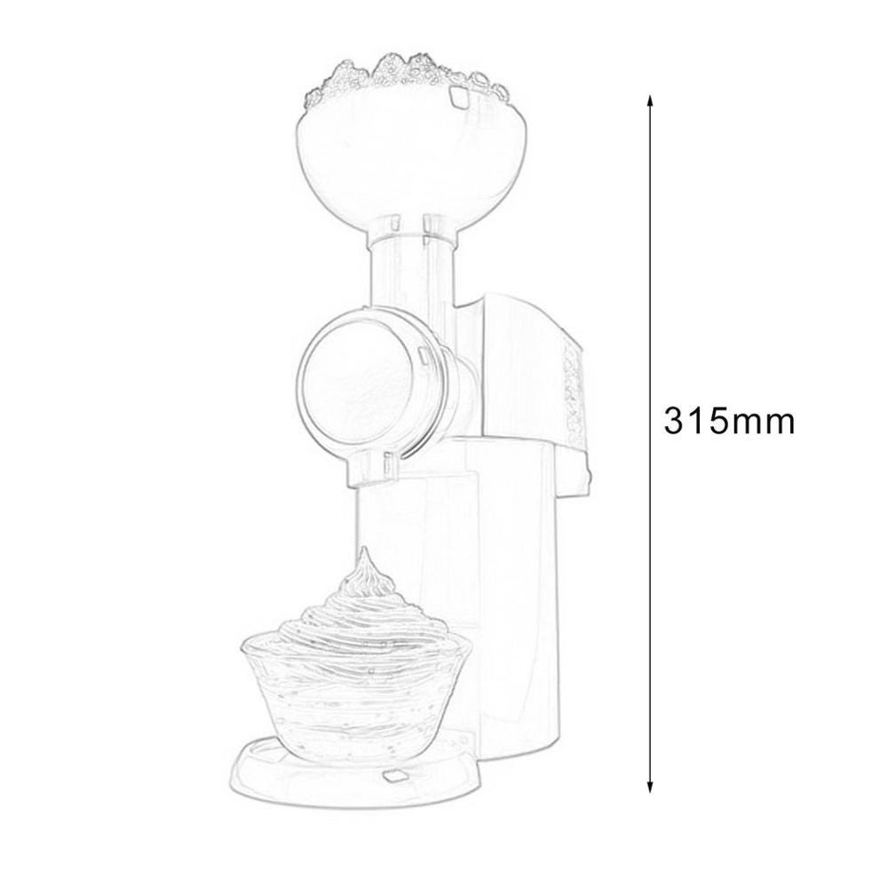 Practical Design DIY Ice Cream Maker Machine Portable Size Household Use Automatic Frozen Fruit Dessert Machine in Ice Cream Makers from Home Appliances