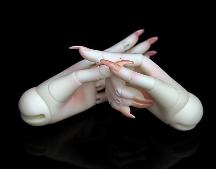 HeHe BJD jointed hands no veins for 1 3 female Dolls free shipping