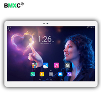BMXC Nieuwste 3G 4G LTE 10.1 inch tablet pc Android 7.0 octa core 4 GB RAM 64 GB ROM 5MP IPS Tabletten Telefoon tabletten computer MT8752