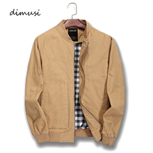 Dimusi Демисезонный Для мужчин бомбардировщик куртки одноцветное пальто мужской Повседневное стенд Куртка с воротником Верхняя одежда ветровки 5XL, TA136