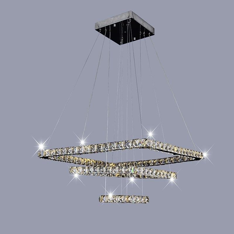 Piazza anello di cristallo Moderna LED Lampadario di Cristallo Luci Lampada Cristal Lustre Lampadari Illuminazione soggiorno Ciondolo AppesoPiazza anello di cristallo Moderna LED Lampadario di Cristallo Luci Lampada Cristal Lustre Lampadari Illuminazione soggiorno Ciondolo Appeso