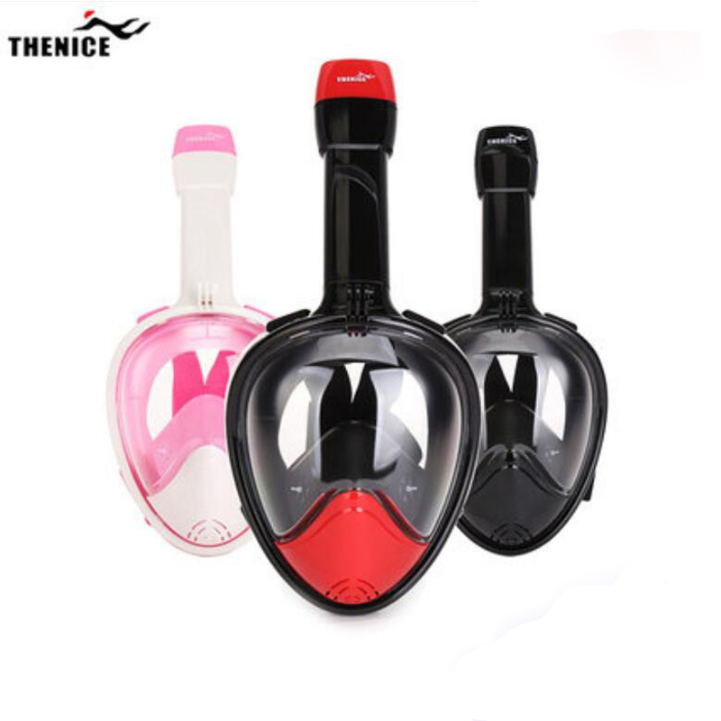 Adult Child Diving Mask Anti Fog Swimming Snorkel Mask Scuba Mergulho Full Face Snorkeling Maske Swimming Accessories Aqualung full face snorkeling mask scuba diving mask anti fog underwater snorkel set anti skid ring swimming accessories aqualung