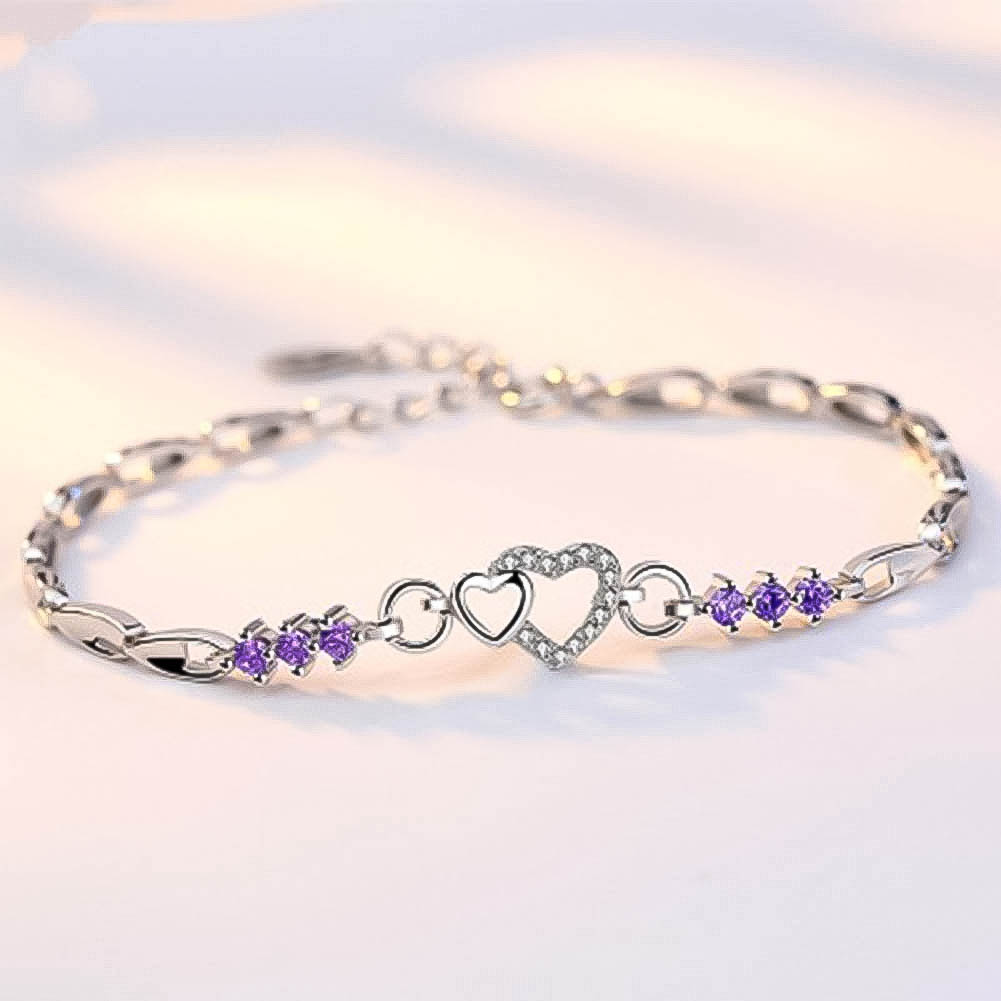 Love Heart Design Bracelets Silver COLOR Lucky Hand Chain Adjustable Braslet For Sister Friendship Jewelry Pulseira