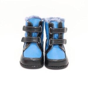 Image 2 - Tipsietoes 2020 새로운 겨울 어린이 맨발의 신발 가죽 마틴 부츠 키즈 스노우 보이즈 고무 패션 핑크 스니커즈