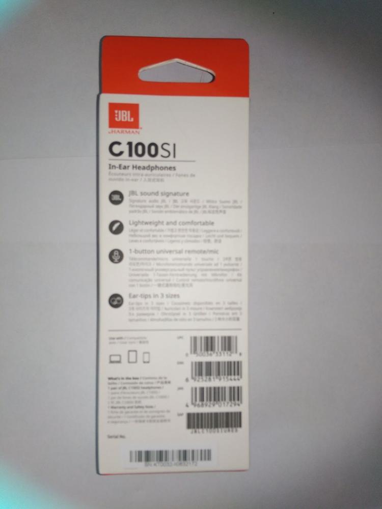 Внутриканальные наушники с микрофоном JBL C100SIU