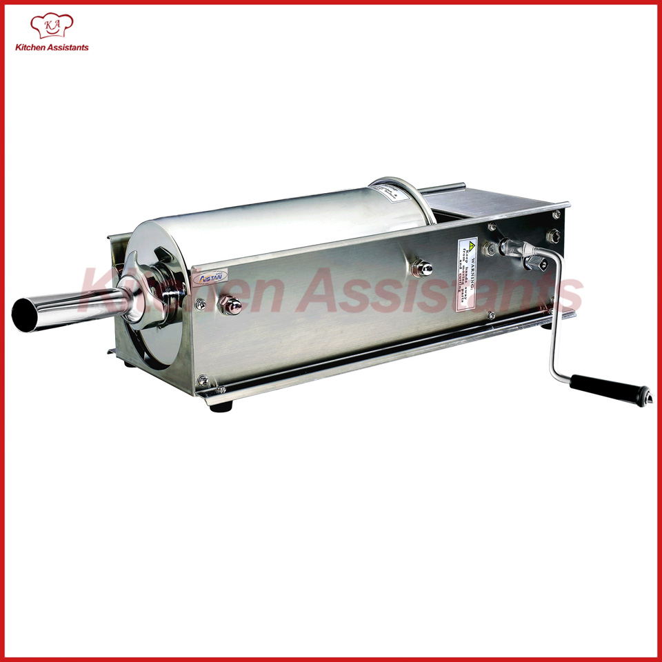 HV5L manual sausage stuffer maker machine with stainless steel nozzles